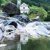 Church of Lavertezzo on the river Verzasca, Verzasca valley