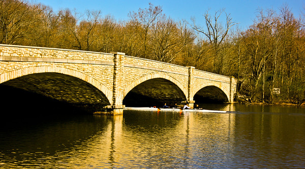 """A Bridge over Carnegie Lake in Princeton. You have probably seen this bridge before if you've ever watched the Intro to a little show on FOX called """"House M.D.""""  I might try to capture a shot of the """"Hospital"""" soon."""