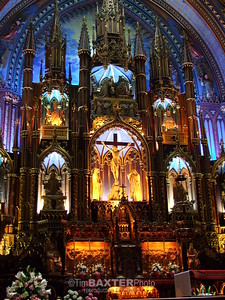 Notre Dame Basilica in Montreal. Awe inspiring!  My son said it looks like Little Mermaid.