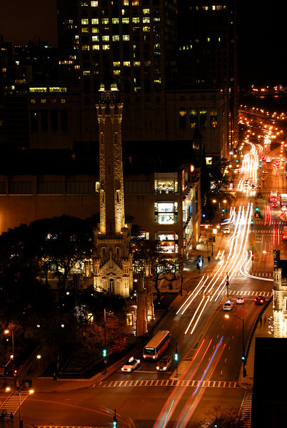 Chicago Water Tower along Michigan Avenue.