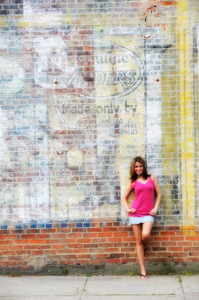 Remainders of advertising in Sheridan, Indiana.