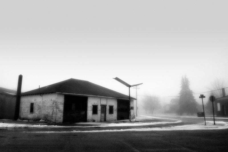 Abandoned gas station in Kempton, Indiana.