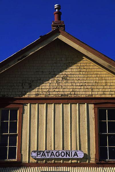 Patagonia, Arizona railroad station building.