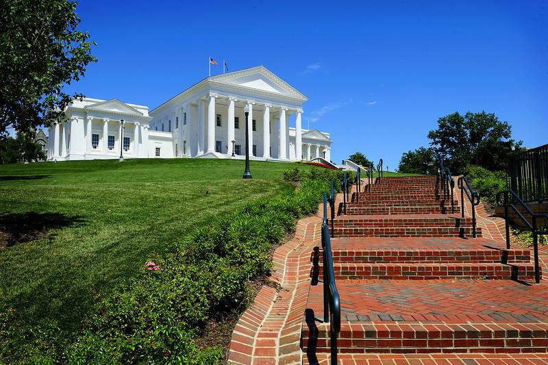 Virginia State Capital, Richmond.  Capital of the Confederacy 1861-1865.