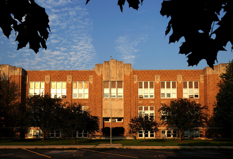Our historic Adams Elementary School.  This used to be the High School and it's future is uncertain with the construction of a new elementary school.  We hope there can be a sympathetic adaptive re-use of this building to save it for future generations.