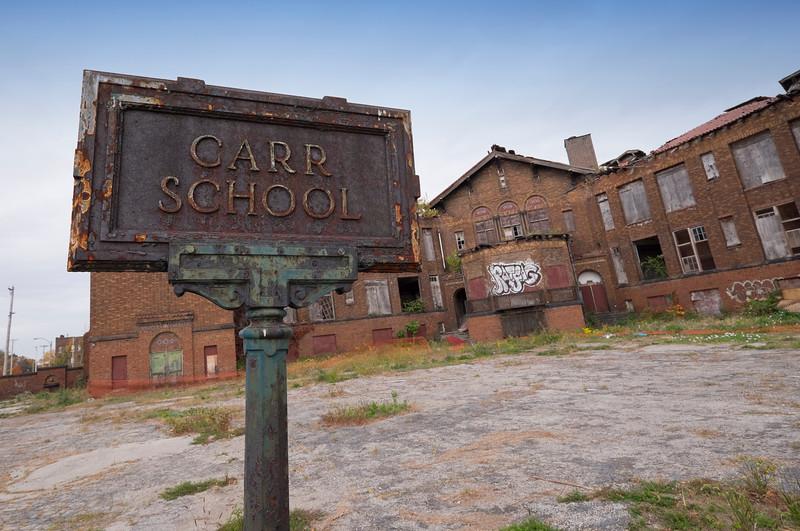 Carr School, abandoned long ago