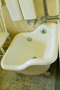 Marston House, Balboa Park San Diego Craftsman home  bath