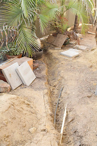 """Fire Sprinkler Main Line Trench for 1"""" feed to house"""