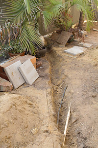 Water Line for Fire Sprinklers from meter to house Trench