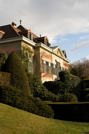 Switzerland, Lausanne, Gardens and Building SNM