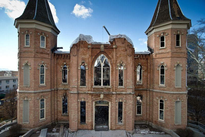 Historic Provo Tabernacle after the fire in January 2011.