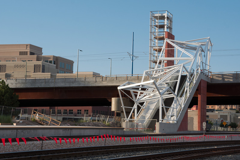 Salt Lake City North Temple Viaduct Stair designed by FFKR Architects, a part of the Trax to Airport development - 2012