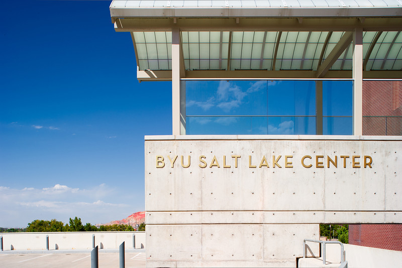 BYU Salt Lake Center near the Triad - downtown SLC Utah - shot with a Nikon D3s and Olympus Zuiko 35mm f2.8 Shift.
