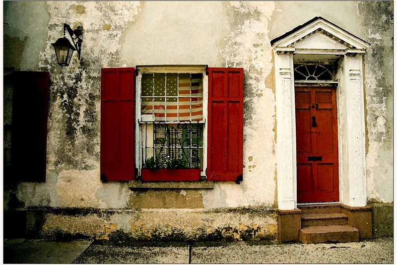 Charleston porch c American flag watercolor filterDSC_0113