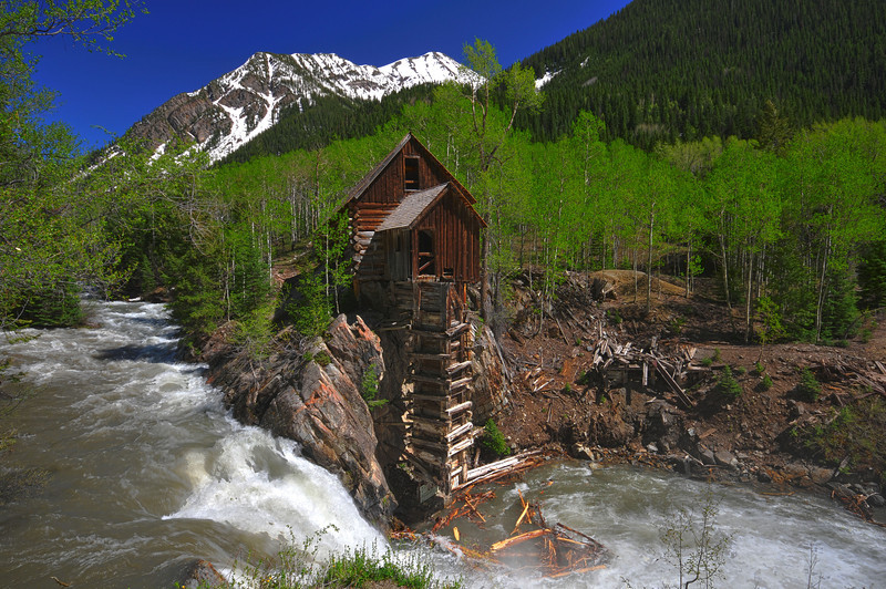 Crystal Mill in Crystal, Colorado