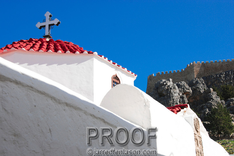 Church in Lindos, Greece