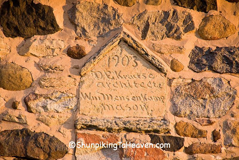 Architect and Mason of Historic Chase Stone Barn, Oconto County, Wisconsin