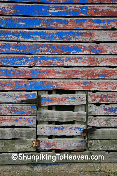 Red and Blue Shed at Sywassink Farm, Muscatine County, Iowa