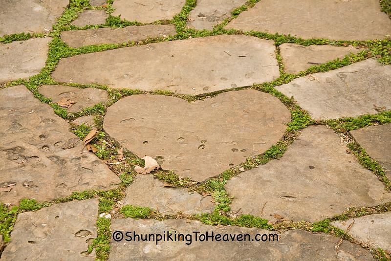 Heart-Shaped Stone at Mellon's Country Store, Stone County, Arkansas
