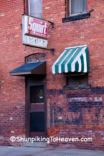 Squirt and Liquor Sign on East End Cafe, Zanesville, Ohio