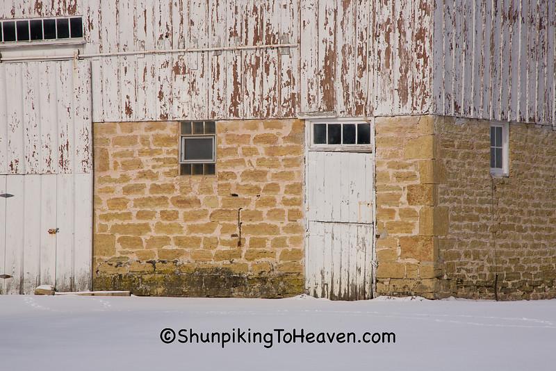 Barn Foundation at Airy Knoll Farm, Sauk County, Wisconsin