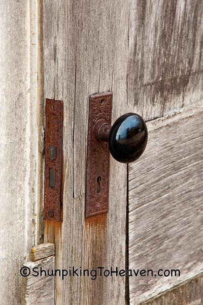 Antique Procelain Doorknob, Green County, Wisconsin