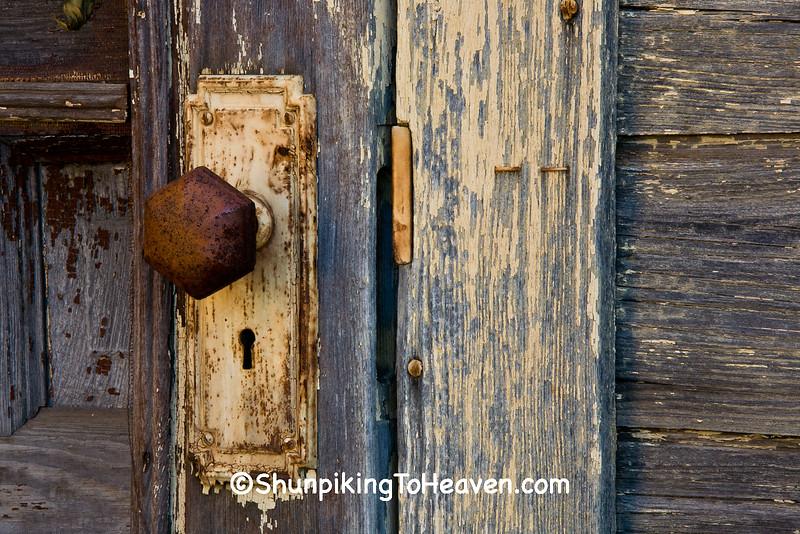 Lumber Building Doorknob, Monroe County, Wisconsin