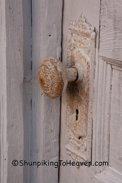 Doorknob on Stockade Mill Door, Wabash County, Indiana