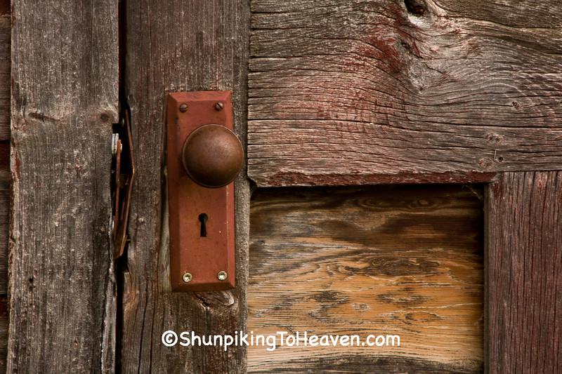 Doorknob on Old Milkhouse, Vernon County, Wisconsin