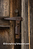 Keyhole, Latch, and Handle of Door on Railroad Depot, Coles County, Illinois
