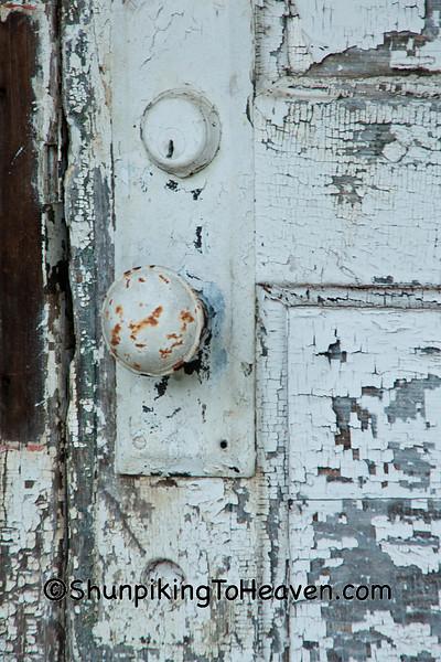 Doorknob of Orange Mill School, Juneau County, Wisconsin