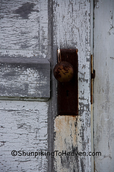Outhouse Door at Springbrook School, Washburn County, Wisconsin
