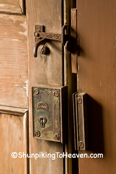 Latch and Keyhole, Portland Prairie Methodist Church, Houston County, Minnesota