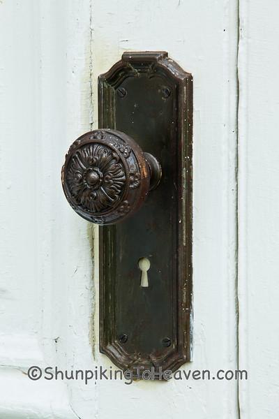 Doorknob on Pulaski Presbyterian Church, Iowa County, Wisconsin