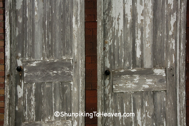 Doors of Combination Outhouse and Storage Shed, Jones County, Iowa