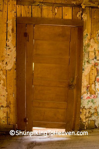 Door Inside Old Log Cabin, Newton County, Arkansas