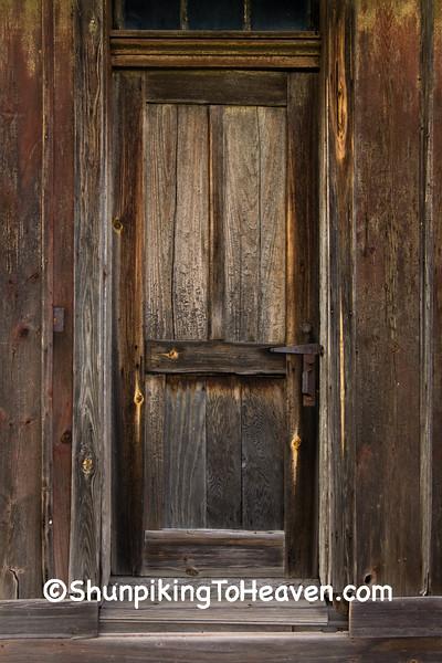 Door of Railroad Depot, Coles County, Illinois