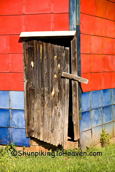 Door of Colorful Tobacco Packing House, Patrick County, Virginia