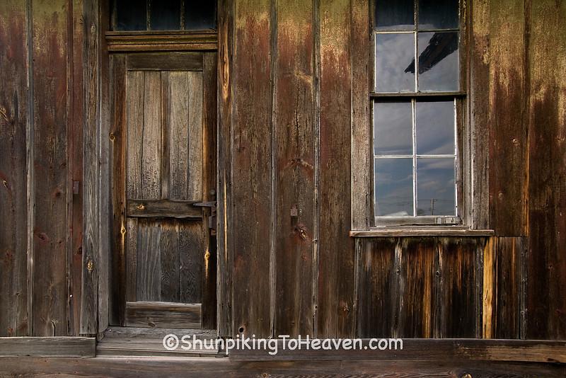 Door and Window of Railroad Depot, Coles County, Illinois