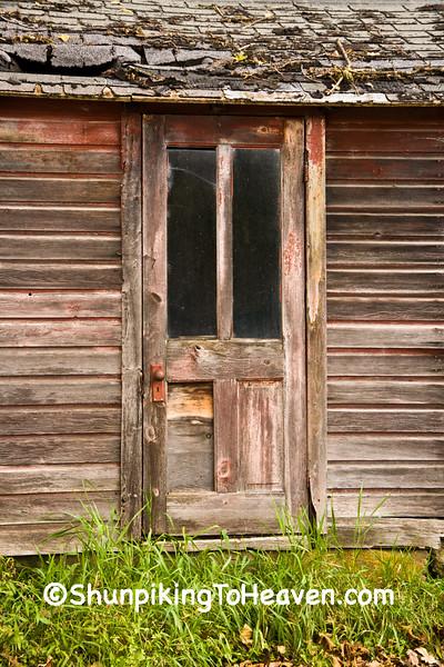 Door on Old Milkhouse, Vernon County, Wisconsin