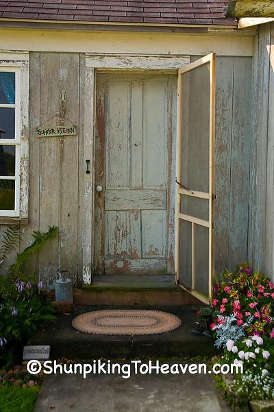 Stoop and Door of Summer Kitchen, Jackson County, Iowa