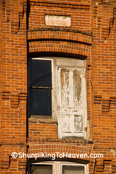Door on 1895 Brick Building, Juneau County, Wisconsin