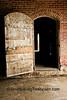 Open Wooden Door on Brick Barn, Muscatine County, Iowa