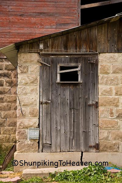 Weather-Worn Milkhouse Door, Richland County, Wisconsin