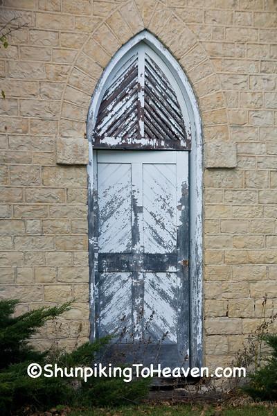 Door of Limestone Dairy Building, Waukesha County, Wisconsin