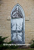 Door of Limestone Dairy Building, Waukesha County, Wisconsin