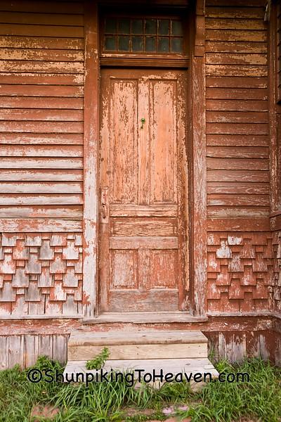 Door and Steps of Historic Depot, Monroe County, Wisconsin