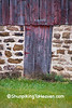 Barn Door and Stone Foundation, Richland County, Wisconsin