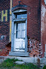 Door on Old Brick Building, Muskingum County, Ohio