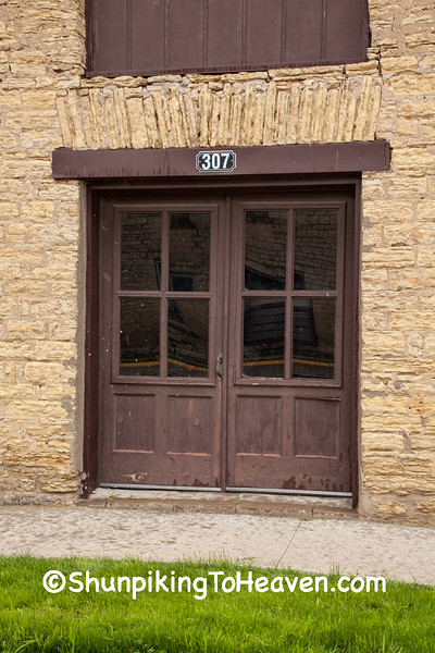 Door on Stone Building, Bellevue, Iowa